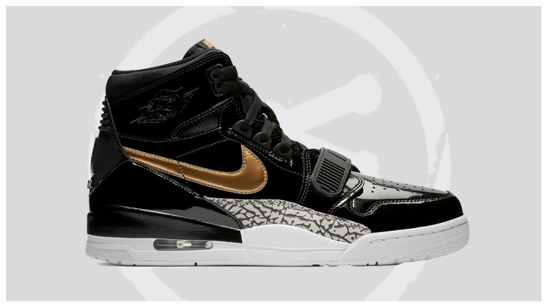 innovative design cd77b c96ba The Jordan Legacy 312 to Release in Black Gold Patent Leather ...