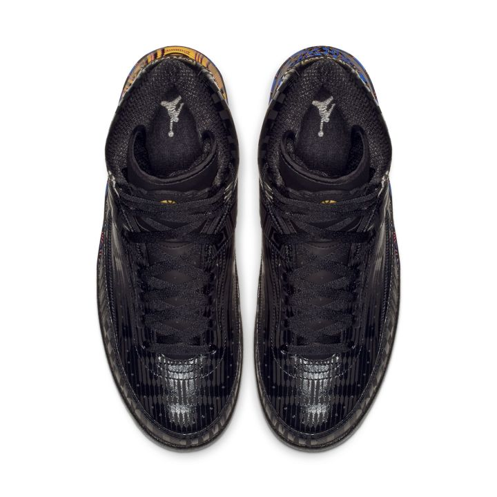 AIR JORDAN 2 RETRO BHM BLACK:METALLIC GOLD 2