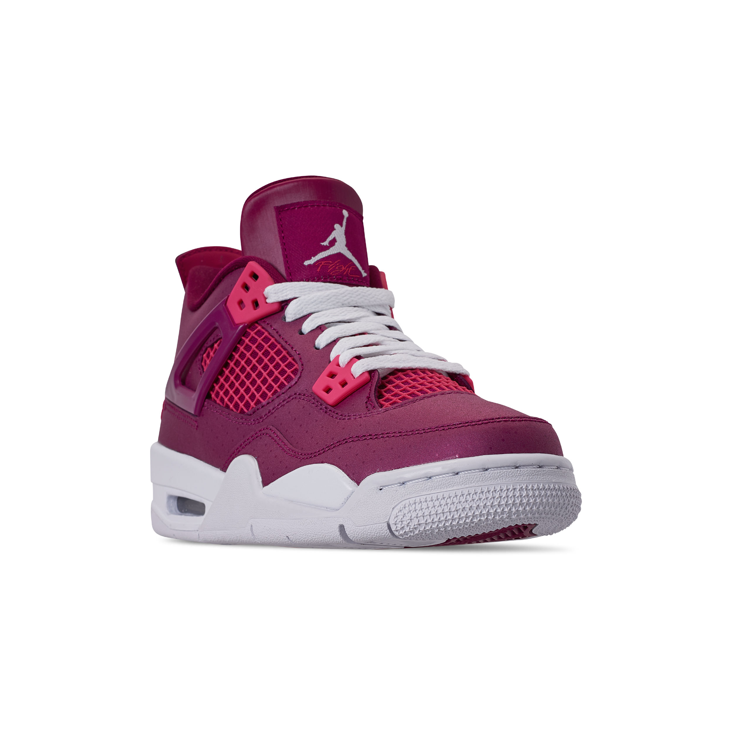 fef2672fdc87 AIR JORDAN RETRO 4 GS TRUE BERRY RUSH PINK-WHITE 1 - WearTesters