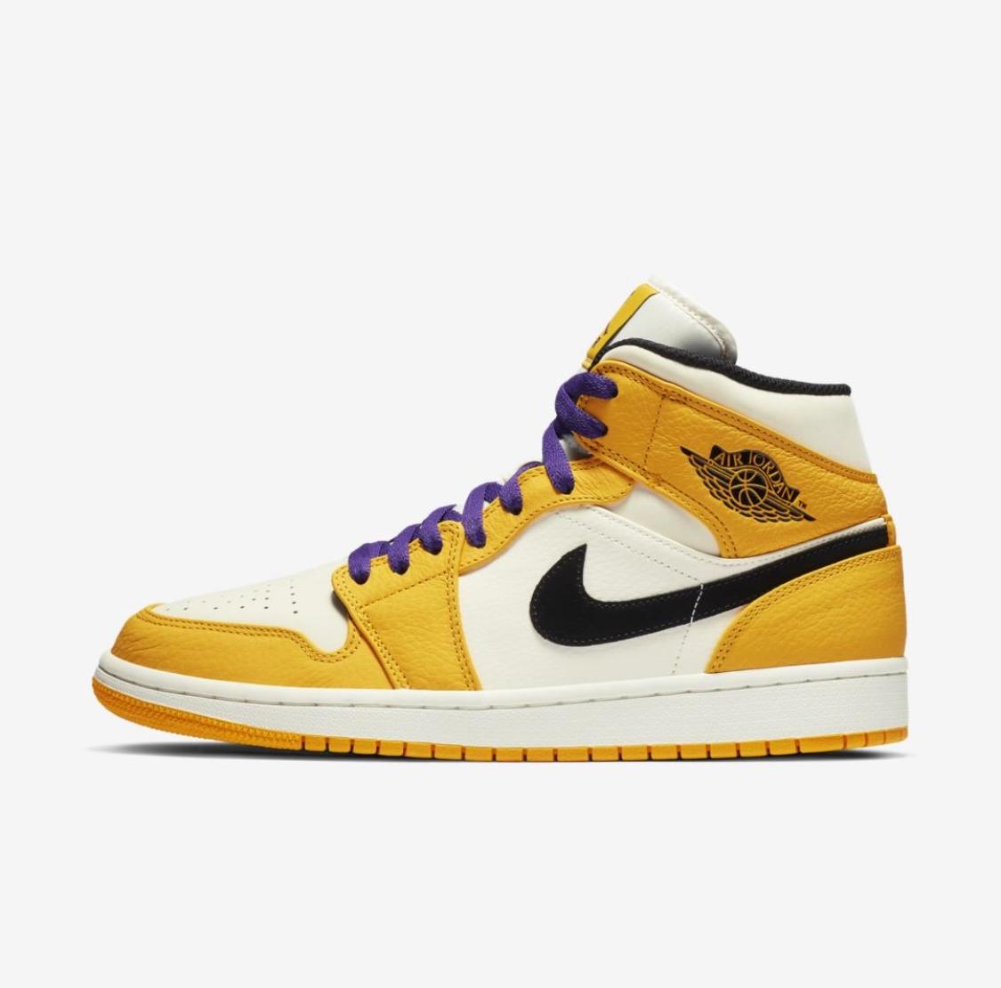 44675ba705e5f9 Air-Jordan-1-Mid-SE-Lakers-1 - WearTesters