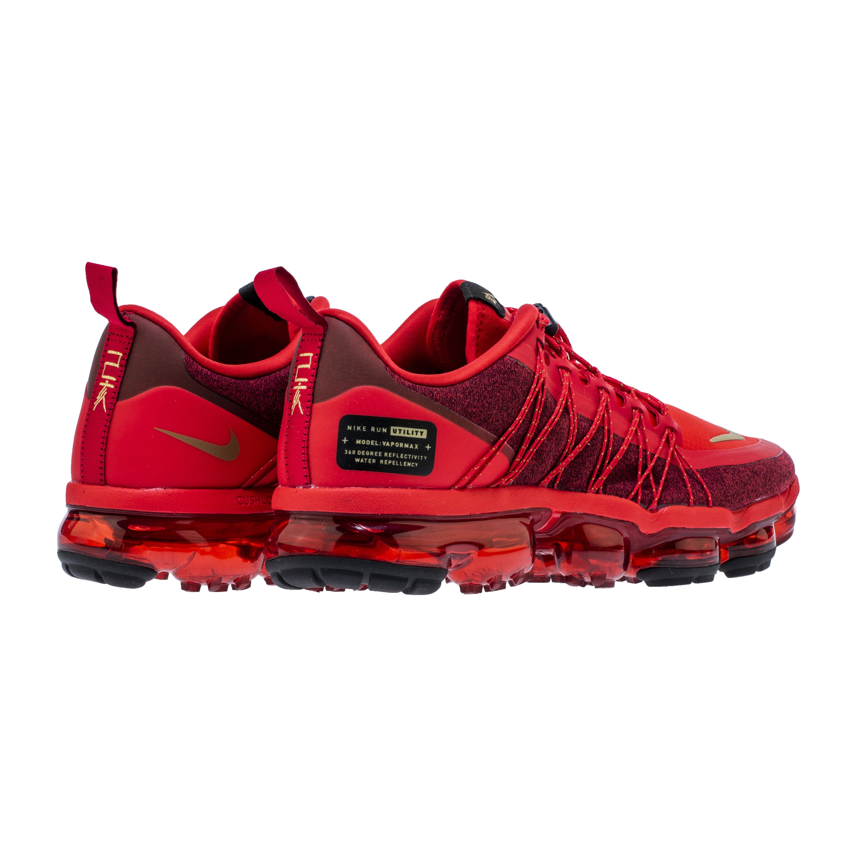 NIKE AIR VAPORMAX RUN UTILITY CANYON RED BLACK 2 - WearTesters d0a61cd43