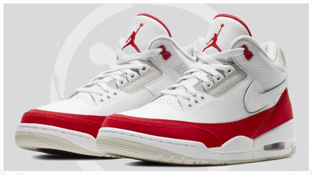 54e0f4c2bb0 An Official Look at the Air Jordan 3 Tinker in 'White/University Red ...