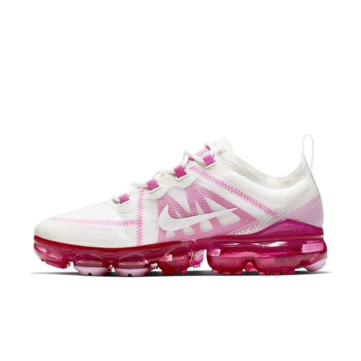 NIKE AIR VAPORMAX 2019 SUMMIT WHITE:SUMMIT WHITE-LASER FUCHSIA-PINK RISE 3