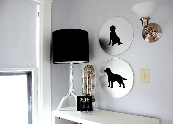 DIY Dog silhouette art