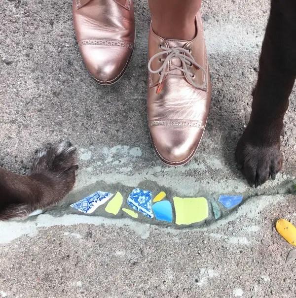 Sidewalk Crack Mosaic