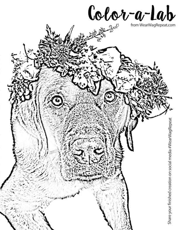Lucy Flower Crown Coloring Page