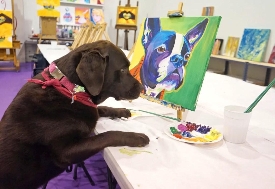 Pop Dog Workshop at Paint Monkey