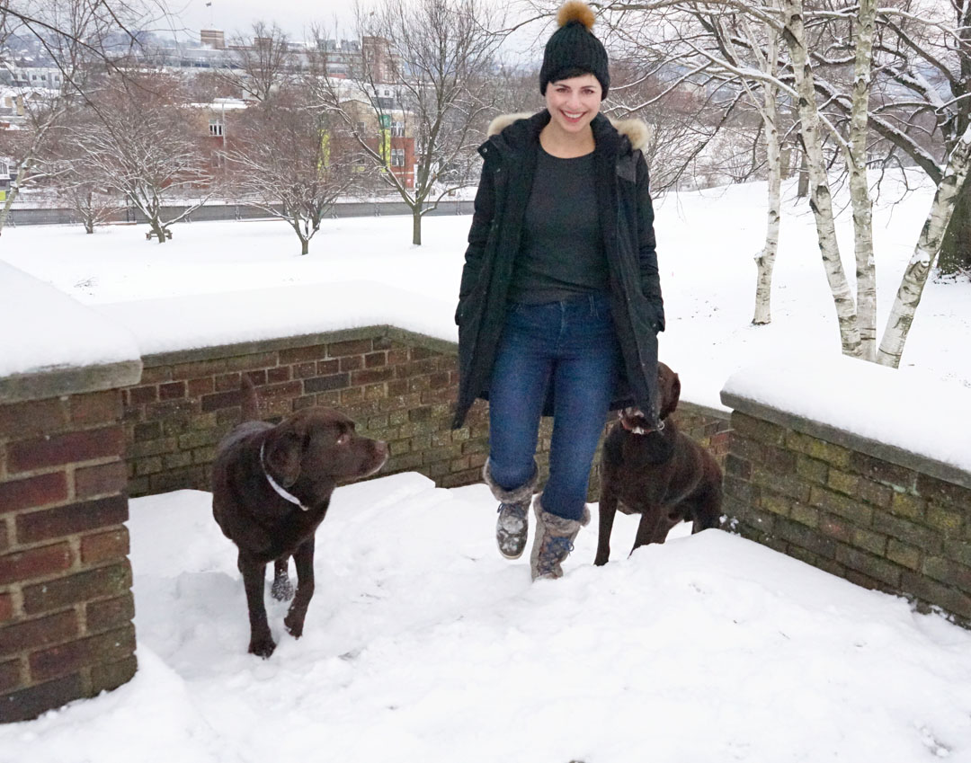 Old Navy Built in Warm Jeans for Winter Dog Walks