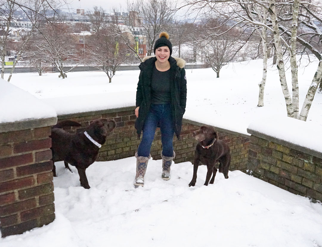 The Best Warm Jeans from Old Navy for Winter Dog Walks