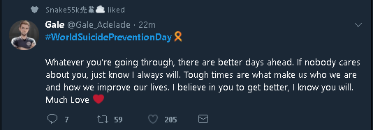 Mental Health Advocate, Positive Tweet