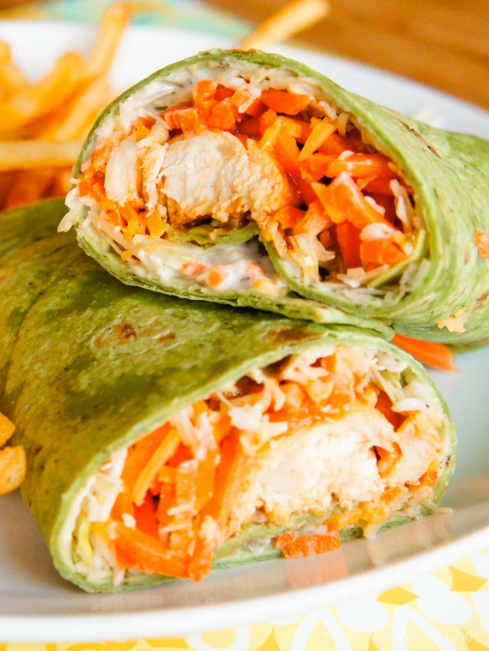 quick and easy dinner ideas, simple dinner ideas, delicious buffalo chicken wrap perfect for a weeknight meal