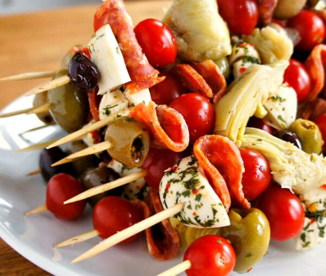 Antipasto Skewers A Fun And Easy Party Food