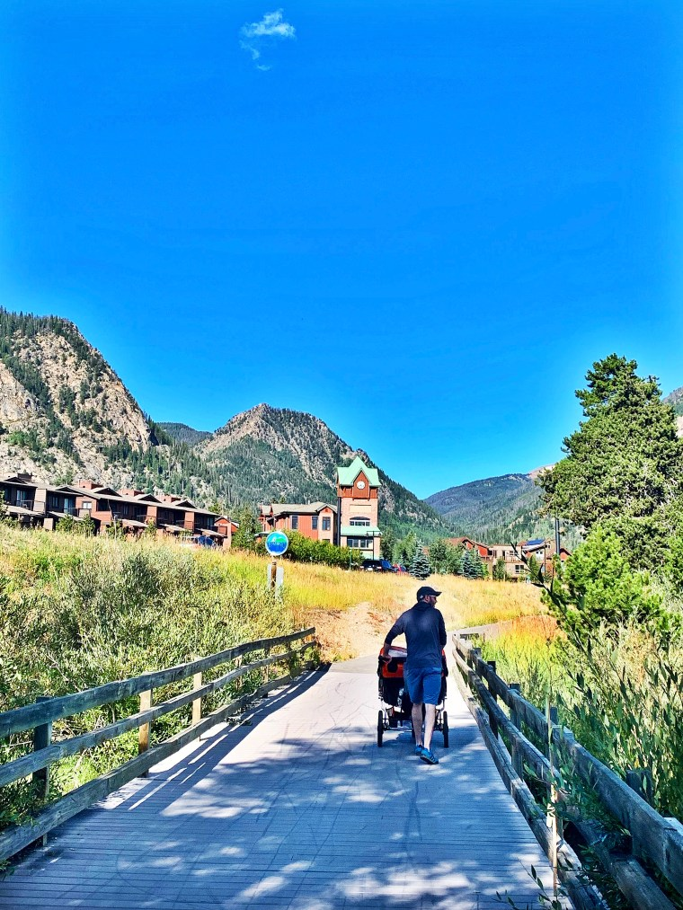walking into frisco colorado town