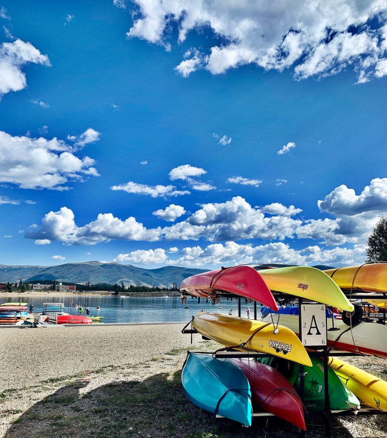 colorful kayaks at frisco colorado marina
