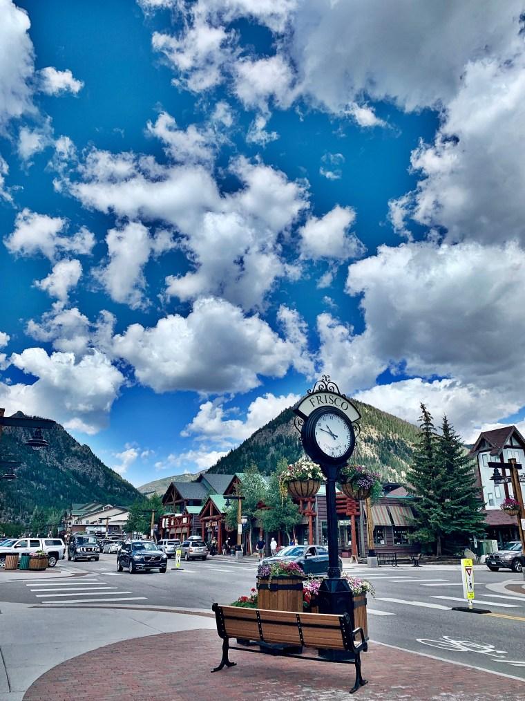 heading into downtown Frisco, Colorado