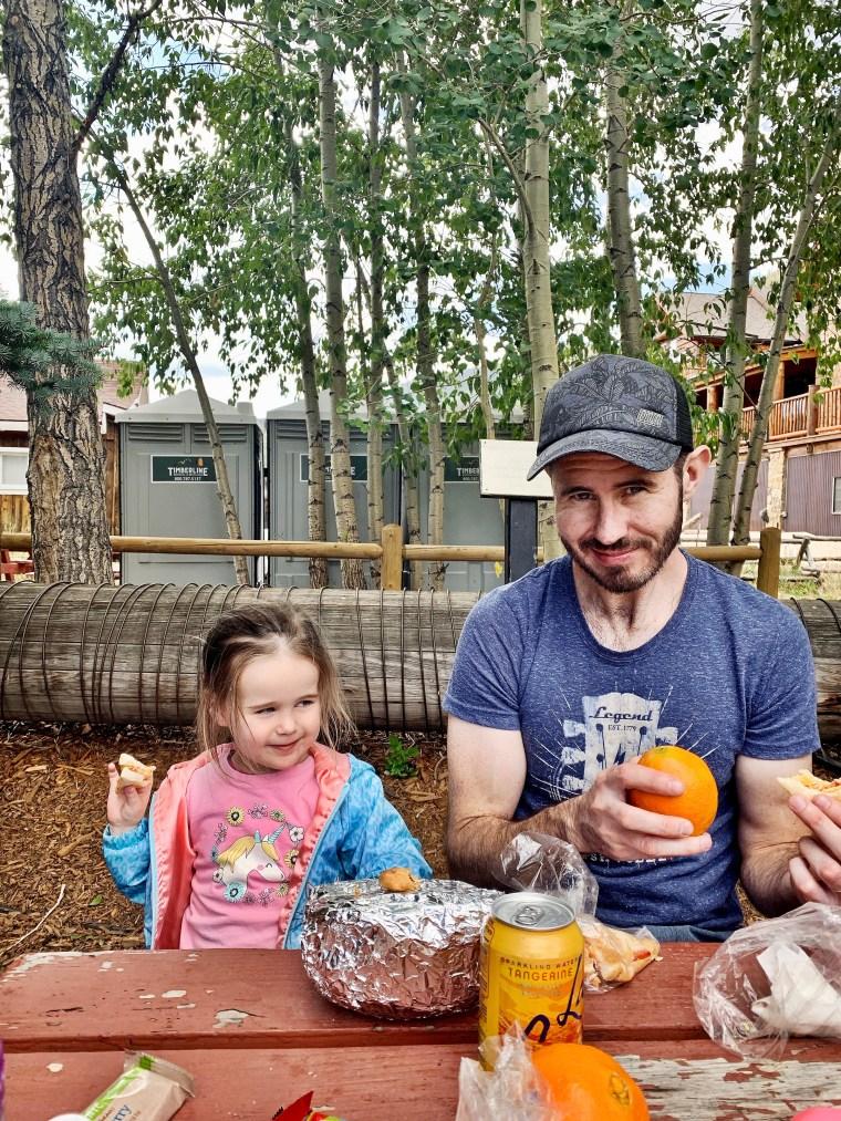 picnic lunch at Frisco History Park & Museum, Frisco, Colorado