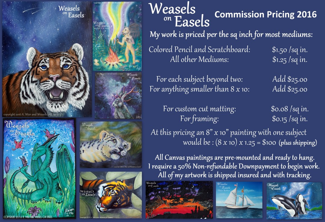 Weasels on Easels Commission Prices