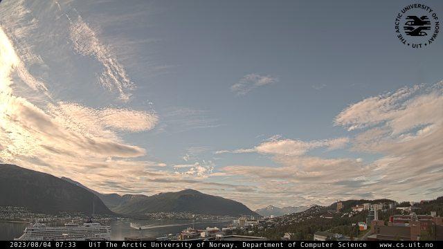 Weather in Tromsø as you read