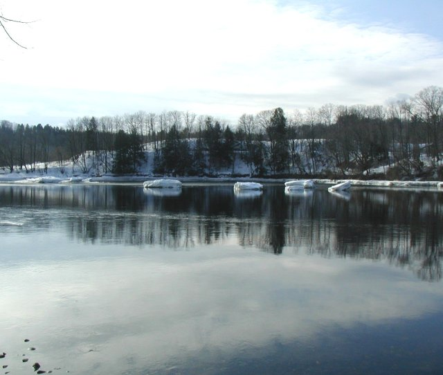 Photograph Of The Connecticut River At West Lebanon Nh Wlbn3 Affected By Ice