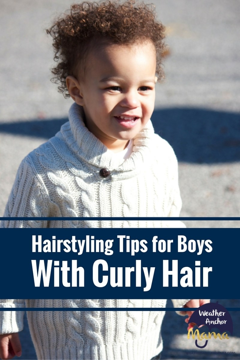 Father Shares Tips On Styling Son S Curly Hair Weather Anchor Mama