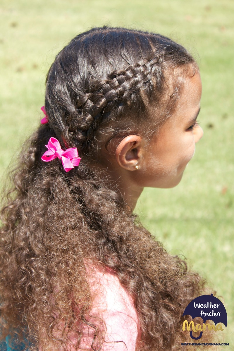 Zipper Braid Hairstyle On Curly Hair Weather Anchor Mama