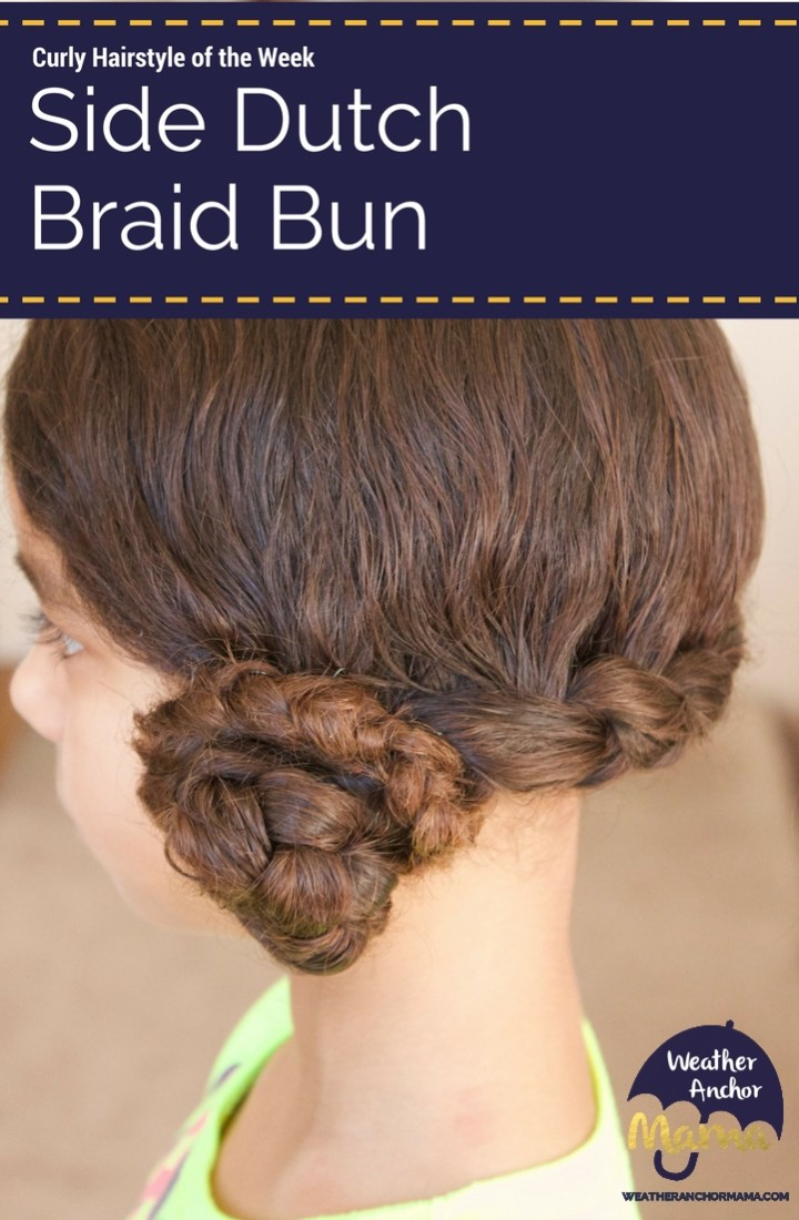 Side Dutch Braid Bun Tutorial