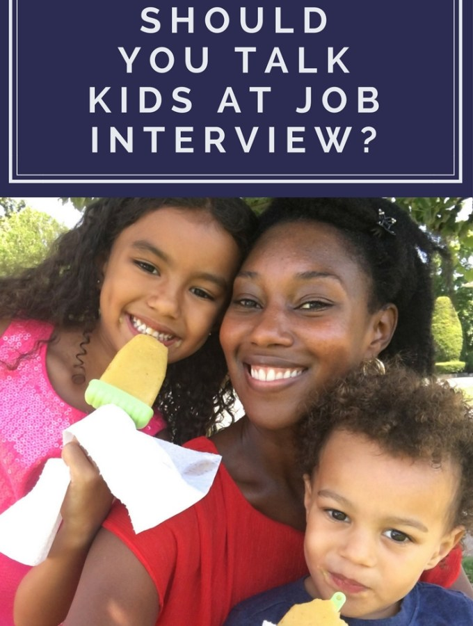 kids job interview family