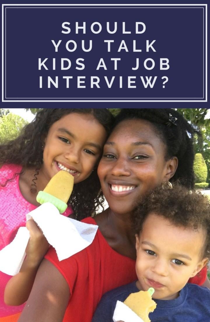 kids job interview family