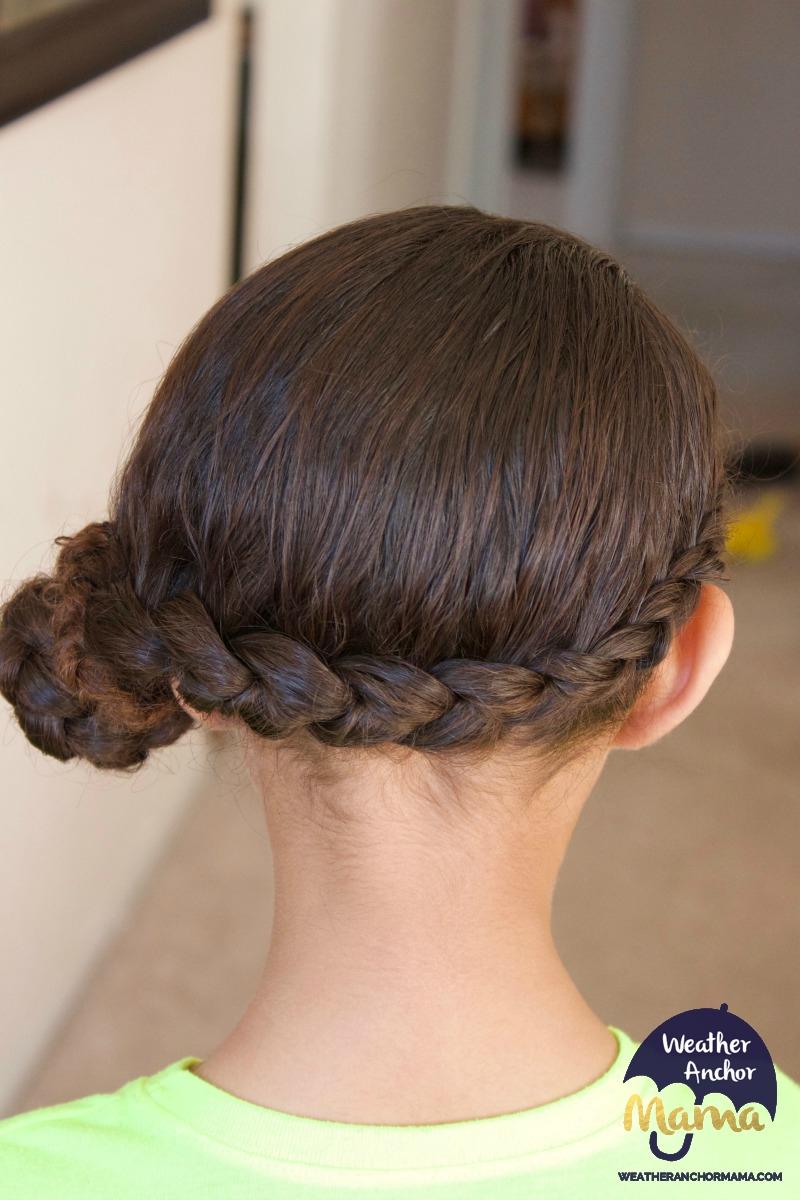 side dutch braid bun curly biracial hair mixed hair care3