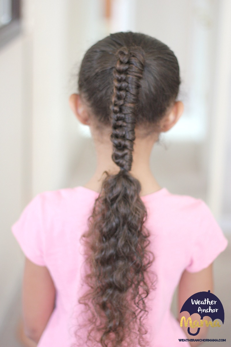curly hairstyles: chinese staircase ponytail braid | weather