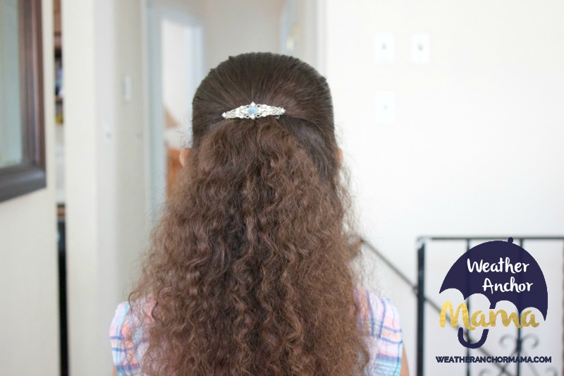 5 Easy Half Up Half Down Curly Hairstyles little girls biracial hair mixed hair care curlykids bantu knots braided hairstyles how to do dutch braid 3