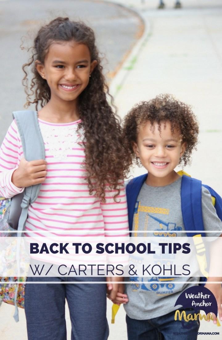 BACK TO SCHOOL TIPS CARTERS & KOHLS
