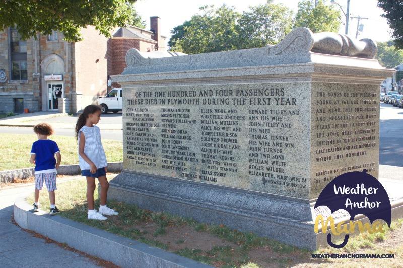 pilgrim burial plymouth massachusetts family vacation