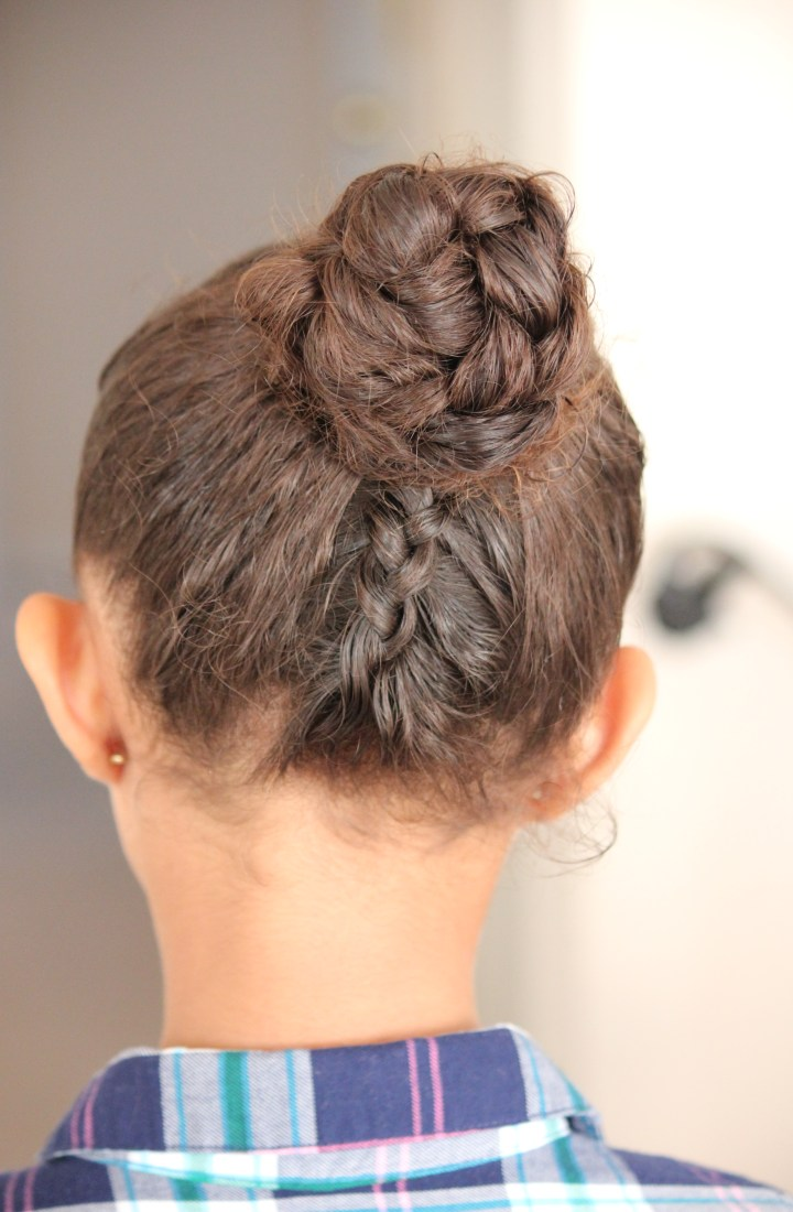 Double Dutch Braid Bun Updo Tutorial
