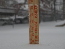 ruler in the snow for measuring
