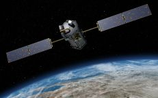 A satelite called Carbon Observatory 2 orbiting the earth