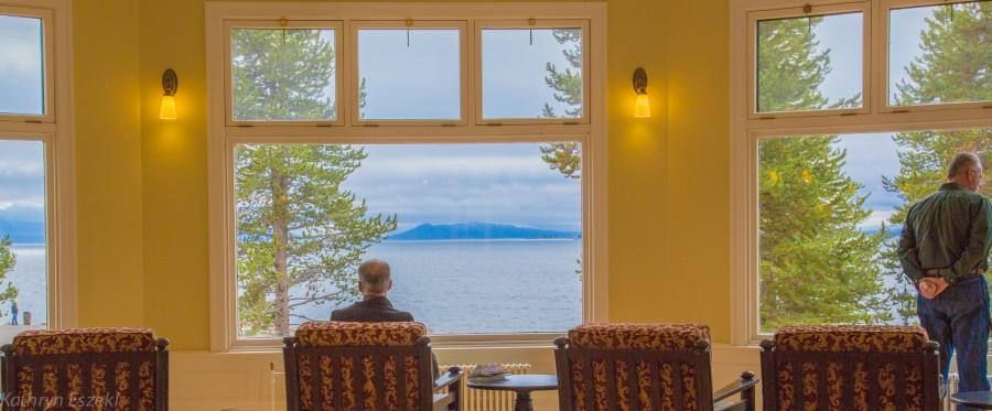 The Sitting Room at Lake Yellowstone Hotel.
