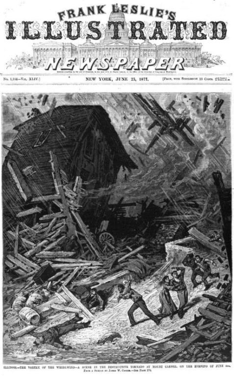 June 4, 1877 Mt. Carmel Tornado Damage