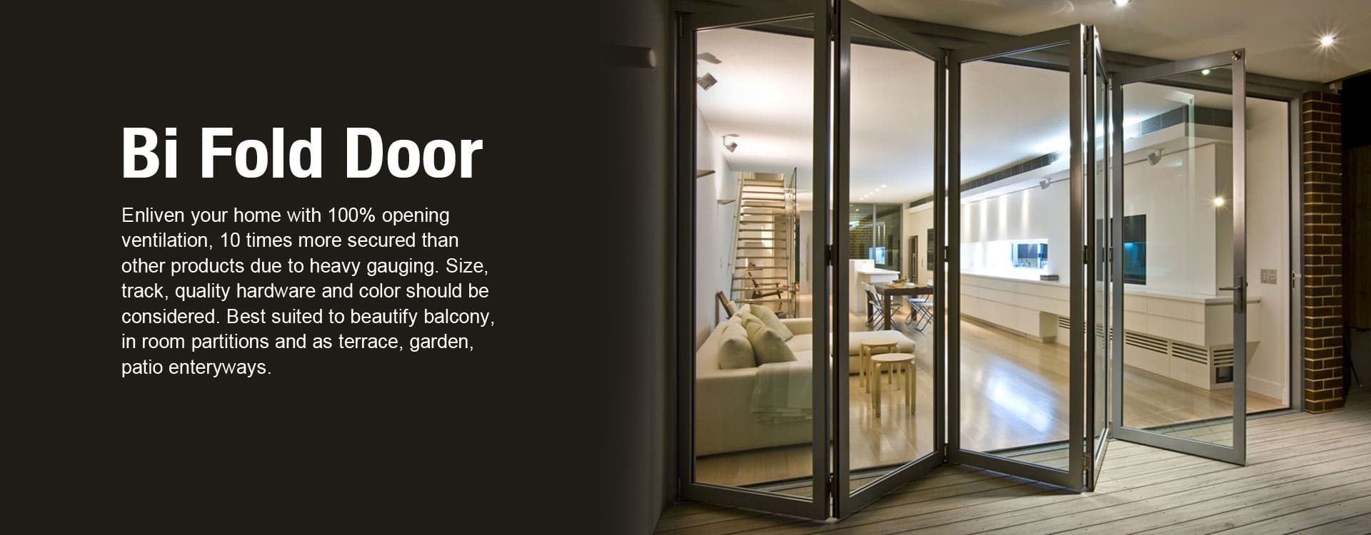 upvc bifold door