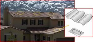 tile attic vents