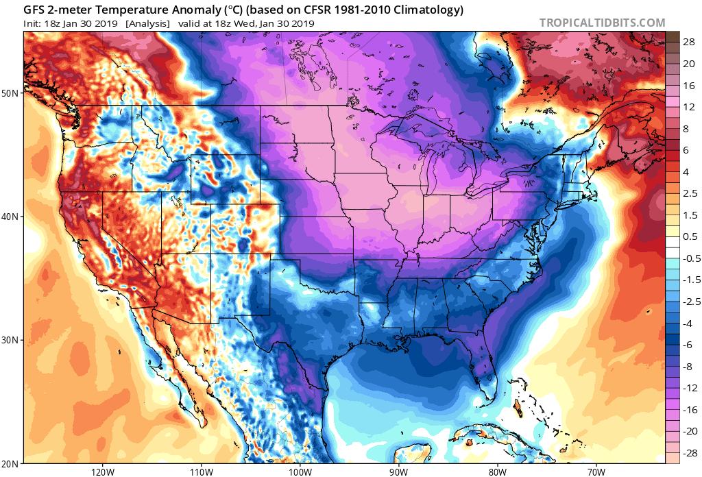 Resultado de imagen para cold extreme polar US map