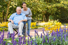stock-photo-74897479-senior-man-on-wheelchair-with-home-caregiver-outdoors