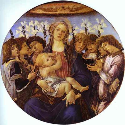 Botticelli - Madonna and Child with Eight Angels