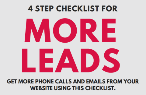 checklist to get more leads from a small business website