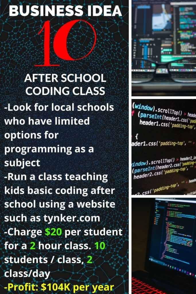 Business idea N°10: After School coding class