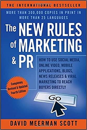The New Rules of Marketing & PR digital marketing books