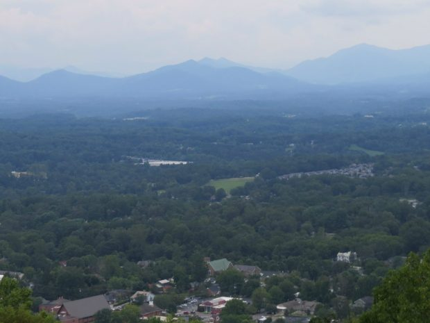 Town of Weaverville from Hamburg Mountain