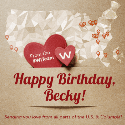 The #WITeam Says: Happy Birthday @beckyrbnsn!