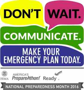 Regional 2016 National Preparedness Month Logo