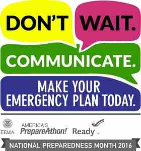 Regional 2016 National Preparedness Month Logo